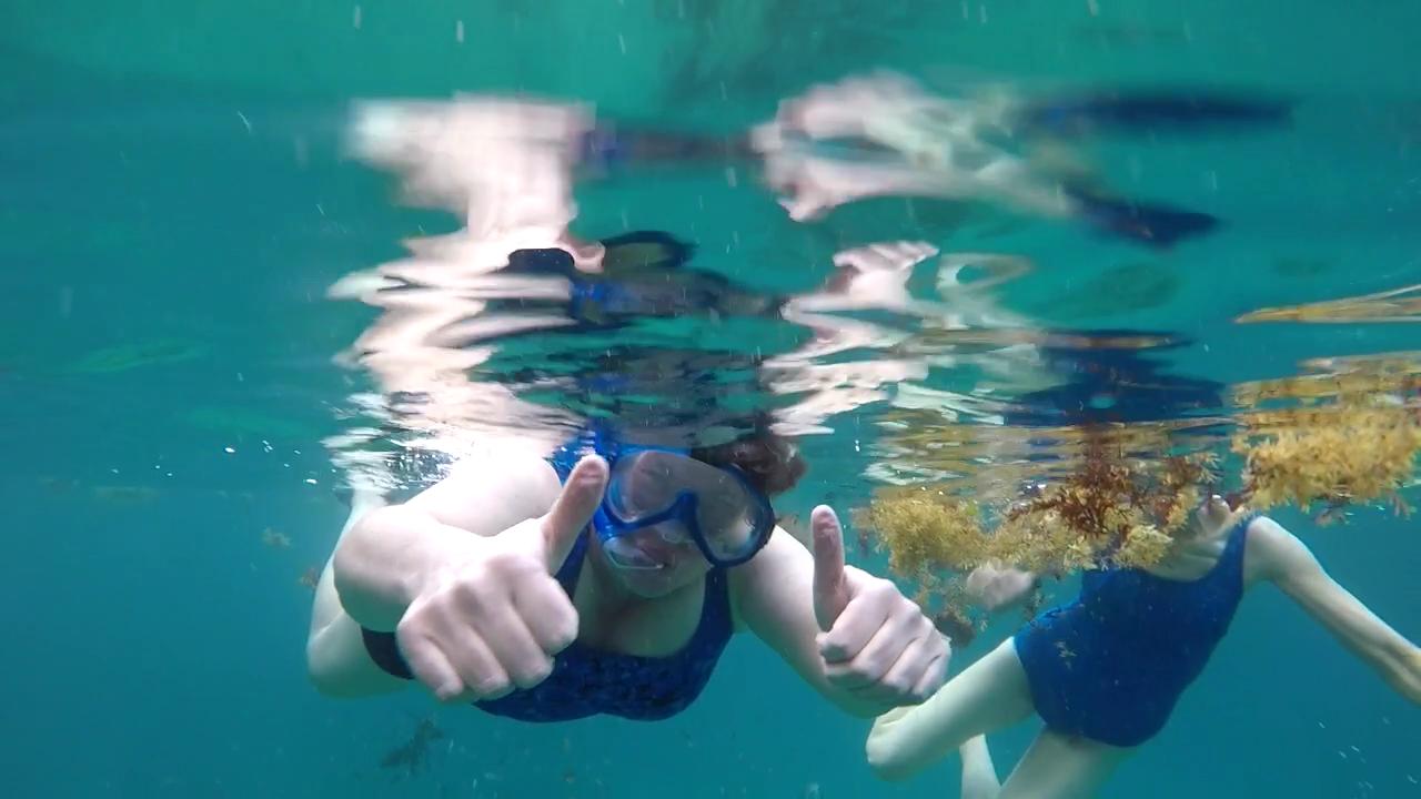 Babs snorkeling